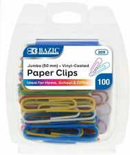 Bazic Jumbo Color Paper Clips For School Home And Office 50 Mm 100 Pieces