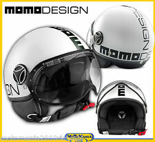 CASCO MOMO DESIGN FGTR BIANCO NERO - CLASSIC EDITION   TG ML 58/59