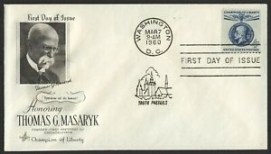 #1147 4c T.G. Masaryk, Art Craft-Addressed FDC ANY 4=