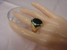 5881-333 Gelbgoldring mit Onyx Ringgroße 61 Kopf 20,5x16 mm Gewicht 4,3 Gramm