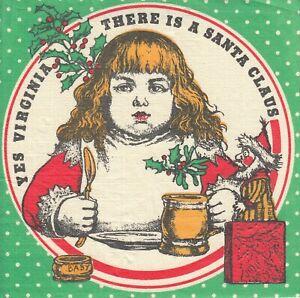 2 Cocktail Papier Servietten Napkins (WW11) Virginia und der Weihnachtsmann Einl