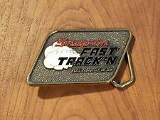 In '92 Belt Buckle Solid Brass Usa Mens Snap On Fast Track'N Full Throttle