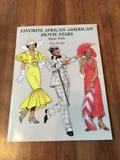 """Paper Dolls Collection """"Favorite African-Americans Movie Stars"""" Tom Tierney"""