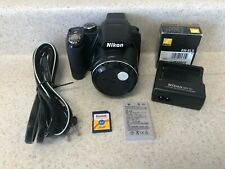 Nikon COOLPIX P90 12.1MP Digital Camera - Black,  Two Batteries and Charger