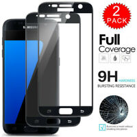 For Samsung Galaxy S7 - FULL COVER 9D Tempered Glass Screen Protector [2-Pack]