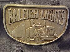 Vintage Belt Buckle Raleigh Lights Cigarettes Trucks Rigs Delivery