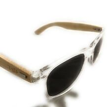 SunglassesWooden Sunglasses by T3D (Surf Collection) - Bamboo - Vintage – Clear