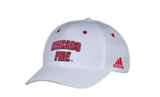 adidas MLS Chicago Fire Men's White Wordmark Structured Adjustable Hat