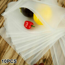 10PCS Reusable Food Storage Silicone Bags Leak-Proof Fresh Produce Bags