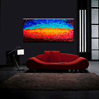Abstract Painting Oil Modern Canvas XXXL Large Original Home 3D Nature Landscape
