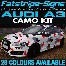 AUDI A3 GRAPHICS CAMO STICKERS STRIPES DECALS BONNET ROOF CAMOUFLAGE 1.6 1.8 2.0
