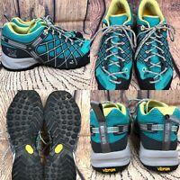 Womens SALEWA 'Wild Fire' Atlantis/Sulphur Hiking Running Shoes SIZE 8 EU 39