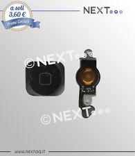 Tasto home IPHONE 5 Ricambio Flex Flat Pulsante NERO