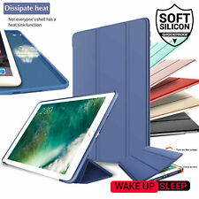 For Apple iPad 7 6 5th Generation Slim Silicone Smart Case Magnetic Flip Cover