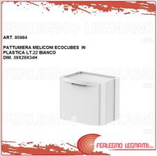 PATTUMIERA MELICONI ECOCUBES  IN PLASTICA LT.22 BIANCO ART. 95984