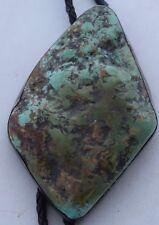 HUGE sterling silver gigantic Turquoise slab Native American Navajo bolo tie