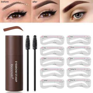 One Step Eye Brow Stamp Shaping Kit Eyebrow Definer Waterproof Eyebrow Powder