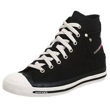 Diesel Exposure Hi Black White Mens Canvas Trainers Shoes BOOTS 8 UK 42 EU