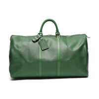 Louis Vuitton Keepall 55 Boston Travel Hand Bag Epi Green Leather M42954 Ex++