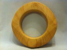 Kenneth Jay Lane Woden Flat Geometric Bangle Bracelet