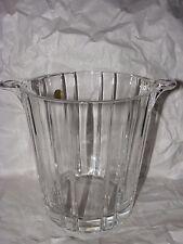 "RCR Royal Crystal Rock Paneled Glass Ice Bucket Original Label 7 1/2"""