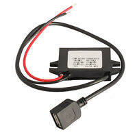 Car Charger Converter 12V To 5V 3A 15W Step Down Module With USB Cable  E0Xc