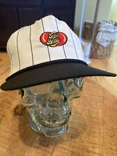 RARE Vintage Jelly Belly Jelly Beans Employee Black And White Hat Strap Back Cap