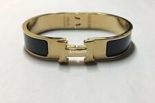 Gold Black -Clic Clac H Bangle Bracelet Enamel Bracelet - PM