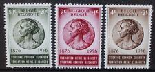 BELGIUM 1956 Queen Elisabeth 80th Birthday. Set of 3 Mint Never Hinged SG1579/81