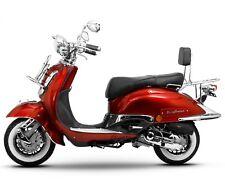 Retro Roller Mofa 25 45 KmH Motorroller 50 49 ccm rot EASYCRUISER BASIC NEU