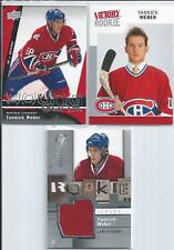 Yannick Weber  09/10  3-RC Lot  w/ Young Guns & Jersey SP
