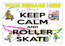 ROLLER SKATING  CAKE TOPPER A4  EDIBLE ICED ICING FROSTING PERSONALISED