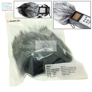 Outdoor Furry Cover Windscreen Windshield Muff For ZOOM H4N Boya V02 Microphone