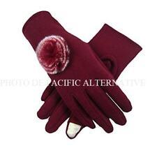 Gants BORDEAUX rouge pour FEMME compatible ecran tactile hiver gloves woman NEUF