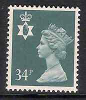 Northern Ireland 1989 NI66 34p litho phosphorised paper Regional Machin MNH