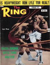 RING MAGAZINE FEBRUARY 1973 RON LYLE LUIZ PIRES JOE FRAZIER GEORGE FOREMAN