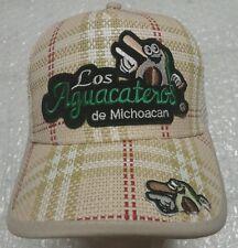 LOS AGUACATEROS DE MICHOACAN HAT CON 5 LOGS COLOR GRREN WHITE CON MALLA A TRAS