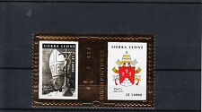 Sierra Leone 2010 MNH Popes 20th Century Gold Stamp 2v S/S Part I Paul VI
