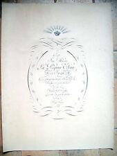 1914 GRANDE TAVOLA CON DEDICA DI FRANCESCO LAMANNA ALLA REGINA ELENA DI SAVOIA