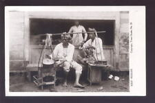 DUTCH EAST INDIES 1923 PHOTO PPC SOERABAJA SOUP SELLER