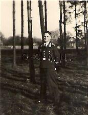 WWII German RP- Luftwaffe Soldier- Dress Uniform- No Hat- Tie- In the Woods