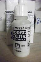 MODEL HOBBY PAINT 17ML BOTTLE  VAL820  AV Vallejo Model Color - Offwhite