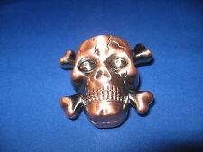 Skull Head Butane Jet Torch Lighter w/Loud Sound Effects & Red Flashing Eyes