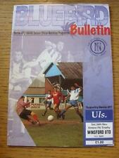 26/11/1994 Barrow v Winsford United [FA Trophy] . Item In very good condition un