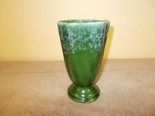 VINTAGE GREEN VASE 033-USA POTTERY CERAMIC FLOWER GLASS
