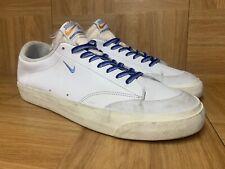 RARE🔥 Nike QuarterSnacks x SB Blazer Low XT White Blue Sz 9 AQ3499-141 Men's LE