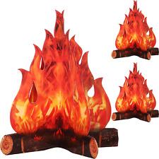 3D Decorative Cardboard Campfire Centerpiece Artificial Fire Fake Flame Paper Pa