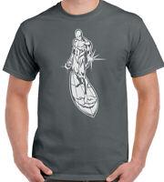 The Silver Surfer Mens Superhero T-Shirt Fantastic Four Comic Hero Top