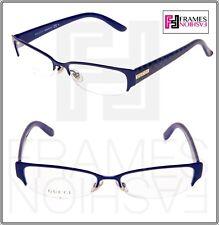 7b8ef34d2e GUCCI 4222 Navy Blue Diamond Square RX Eyeglasses Optical Frame 53mm GG4222