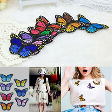 10PCS Embroidery Butterfly Embroidered Sew On Patch Badge Fabric Applique DIY